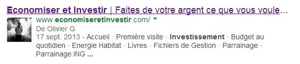 image Olivier Google+ bilan du blog