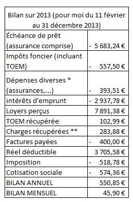 Bilan investissement immobilier 2013